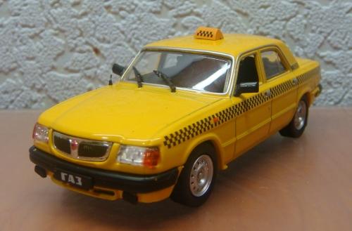 """Изображение модели ГАЗ-3110 «Волга» Такси журнала """"Автомобиль на службе"""""""