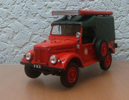 """Изображение модели ГАЗ -69 ПМГ-20 Пожарный журнала """"Автомобиль на службе"""""""