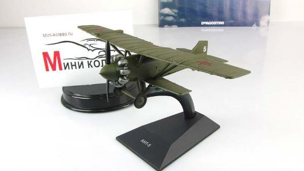 """Изображение модели АНТ-5 журнала """"Легендарные самолеты"""""""