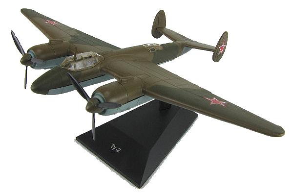 """Изображение модели Ту-2 журнала """"Легендарные самолеты"""""""