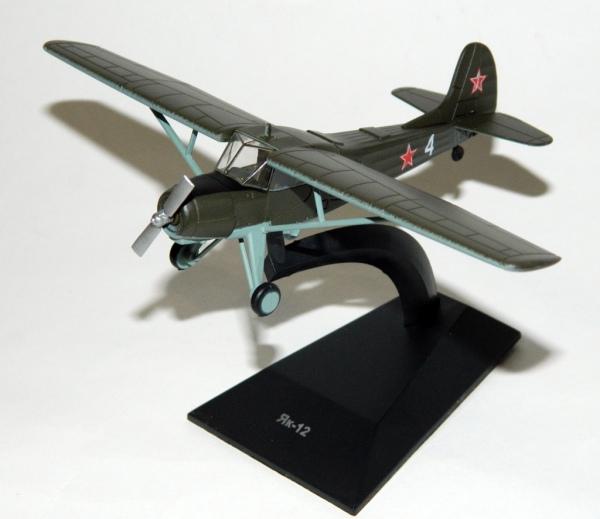 """Изображение модели Як-12 журнала """"Легендарные самолеты"""""""