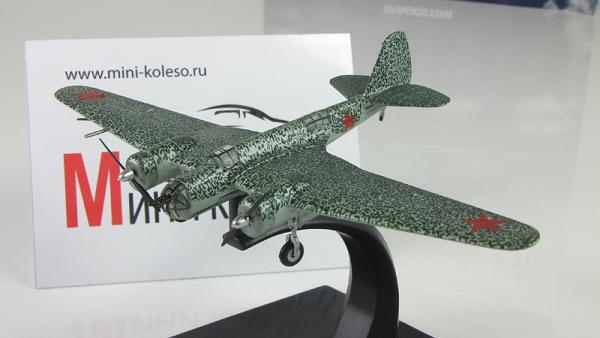 """Изображение модели СБ-2 М-100 журнала """"Легендарные самолеты"""""""
