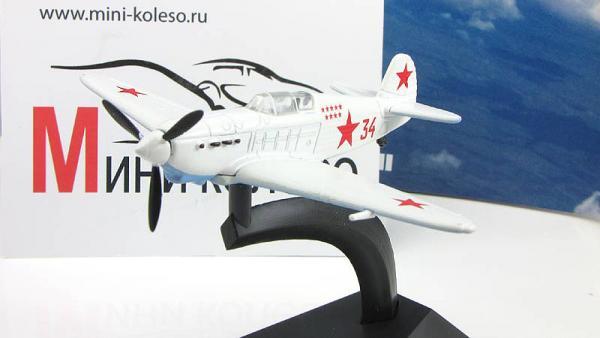 """Изображение модели Як-1 журнала """"Легендарные самолеты"""""""