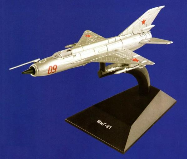 """Изображение модели МиГ-21 журнала """"Легендарные самолеты"""""""
