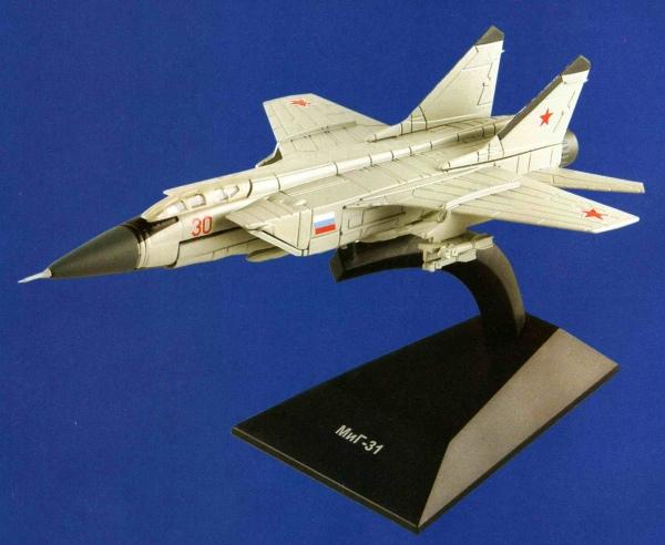 """Изображение модели МиГ-31 журнала """"Легендарные самолеты"""""""