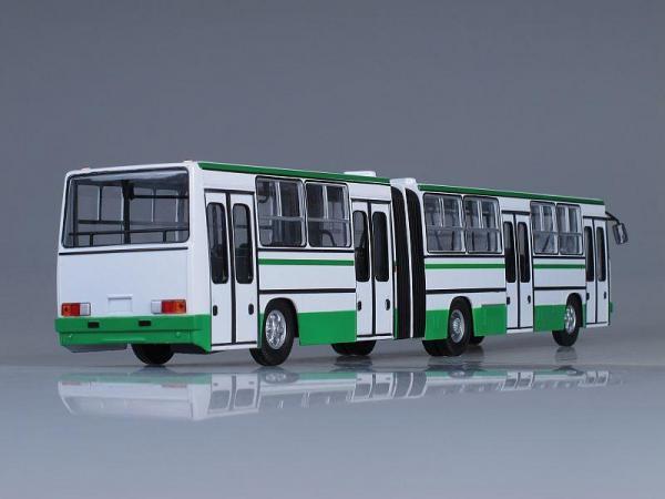 Икарус-280.64 планетарные двери (Москва) (Советский автобус) [1973г., Бело-Зеленый, 1:43]