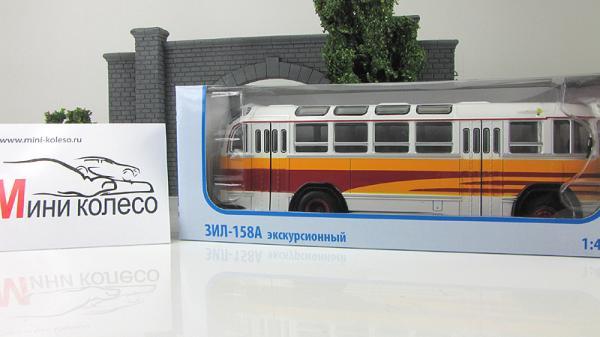 ЗИЛ-158А Экскурсионный (Советский автобус) [1957г., Бело-красно-желтый, 1:43]