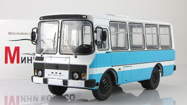 ПАЗ-3205 пригородный (Start Scale Models (SSM)) [1989г., Бело-голубой, 1:43]