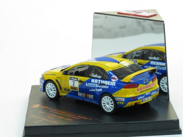 Mitsubishi Lancer Evolution X No.2 Winner ADAC 3-Staedte Rallye 2009 (Vitesse) [2007г., Желто-синий, 1:43]
