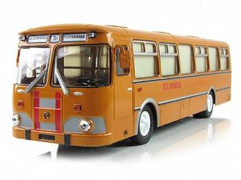 ЛИАЗ-677М техпомощь (Советский автобус) [1967г., Мутно-оранжевый, 1:43]