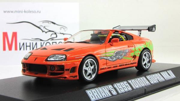 Toyota Supra Mk.IV (из кинофильма Форсаж) (Greenlight) [1995г., Оранжевый, 1:43]
