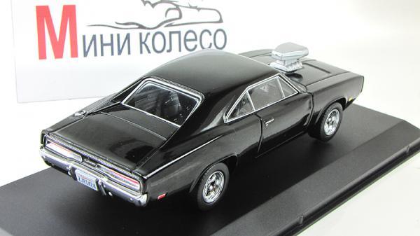 Dodge Charger R/T (из кинофильма Форсаж) (Greenlight) [1970г., Черный, 1:43]