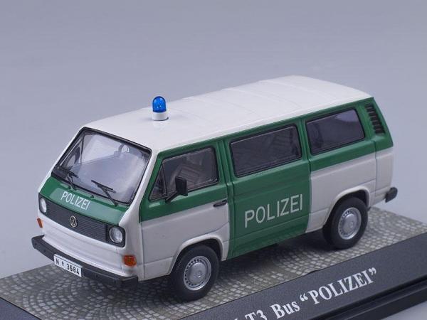 Volkswagen Transporter T3 bus «Polizei» (PREMIUM CLASSIXXS) [1983г., Белый с зеленым, 1:43]