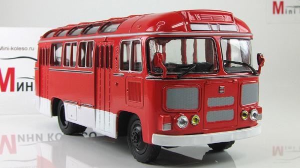 ПАЗ-672М (Советский автобус) [1982г., Красный, 1:43]