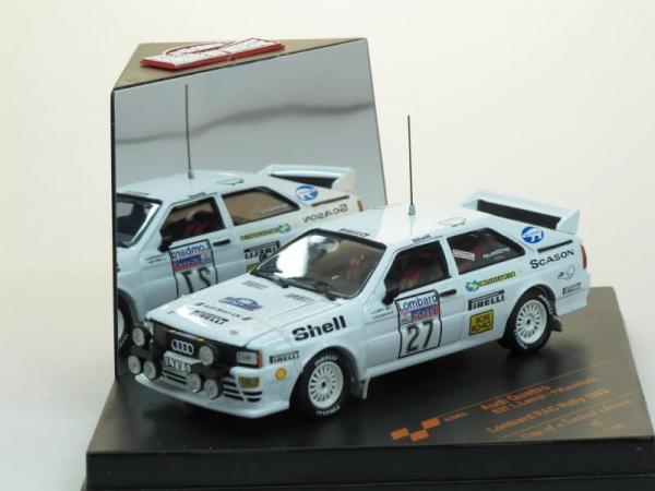 AUDI Quattro No. 27 Rally Lombard RAC RALLY 1982 (Vitesse) [1980г., Белый, 1:43]