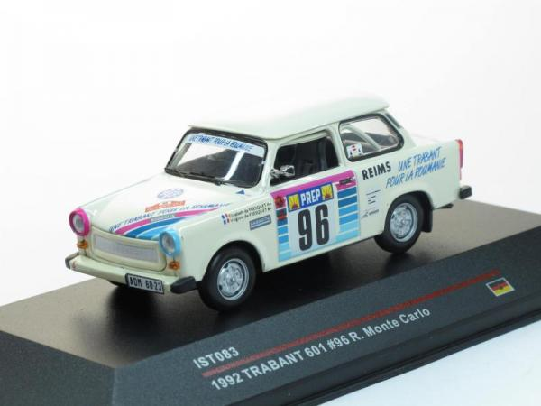 Trabant 601 #96 E.Fresquet-V.Fresquet Rally Monte Carlo 1992 (IST Models) [1963г., Белый, 1:43]