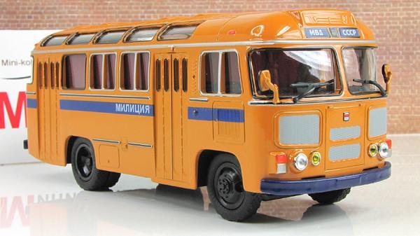 ПАЗ-672М Милиция (Советский автобус) [1982г., Светло-коричневый, 1:43]