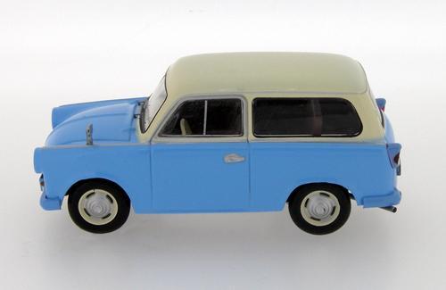 Trabant P50 Kombi (IST Models) [1959г., Голубой, бежевый, 1:43]
