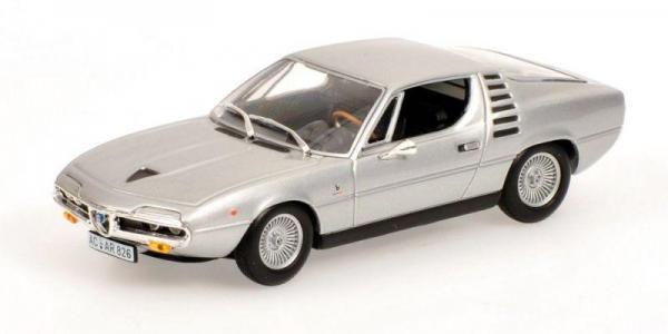 Alfa Romeo Montreal (Minichamps) [1972г., Серебристый металлик, 1:43]