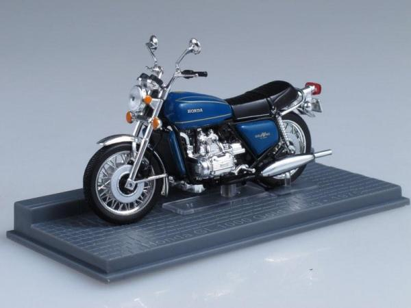 Honda GL1000 GoldWing (IXO) [1975г., Синий, 1:24]