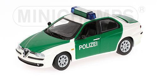 Alfa Romeo 156 (Minichamps) [1997г., Белый с зеленым, 1:43]