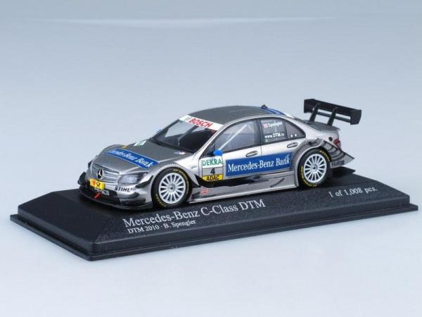 Mercedes-Benz C-Class DTM Team AMG-Mecedes B.Spengler (Minichamps) [2010г., Серебристый металлик, 1:43]