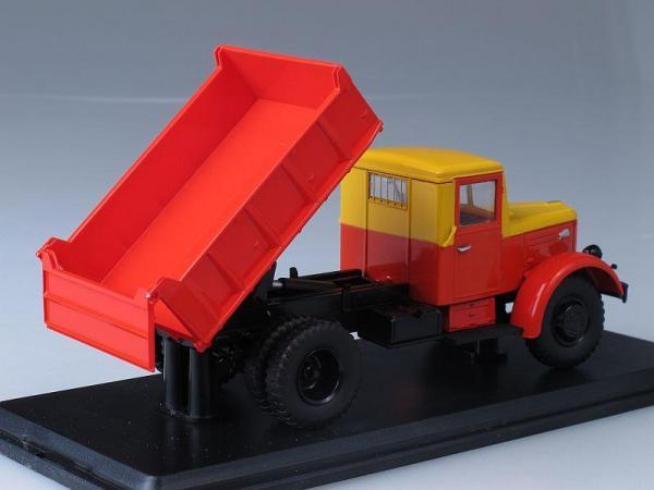 МАЗ-205 самосвал (Start Scale Models (SSM)) [1947г., Красный с желтым, 1:43]