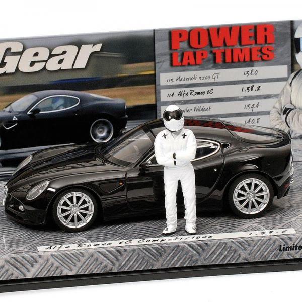 "Alfa Romeo 8C COMPETIZIONE - ""TOP GEAR"" (Minichamps) [2005г., Черный метеллик, 1:43]"