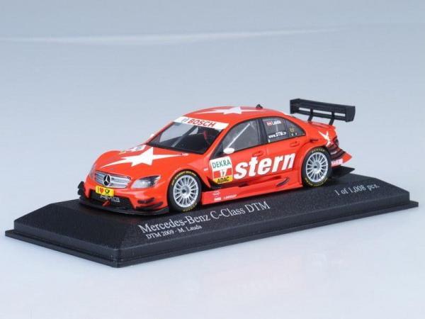Mercedes-Benz C-Class DTM Stern AMG-Mercedes M.Lauda (Minichamps) [2009г., Красный, 1:43]