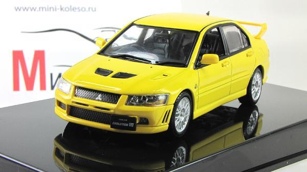 Mitsubishi Lancer Evo VII (Autoart) [2001г., Желтый, 1:43]