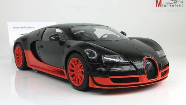 BUGATTI VEYRON SUPER SPORT (Autoart) [2009г., Черный/оранжевый, 1:18]