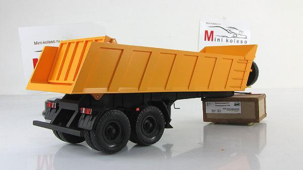 Полуприцеп самосвальный МАЗ-9506 (BY.VOLK) [2003г., Желтый, 1:43]