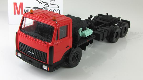МЗКТ-6906 крановоз (Неизвестный производитель) [1991г., Красный/черный, 1:43]