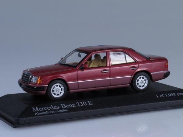 Mercedes-Benz 230 E (W124) (Minichamps) [1991г., Красный металлик, 1:43]