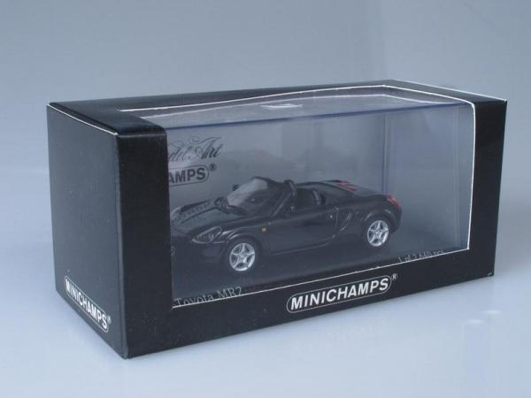 Toyota MR2 Cabriolet (Minichamps) [1999г., Черный, 1:43]