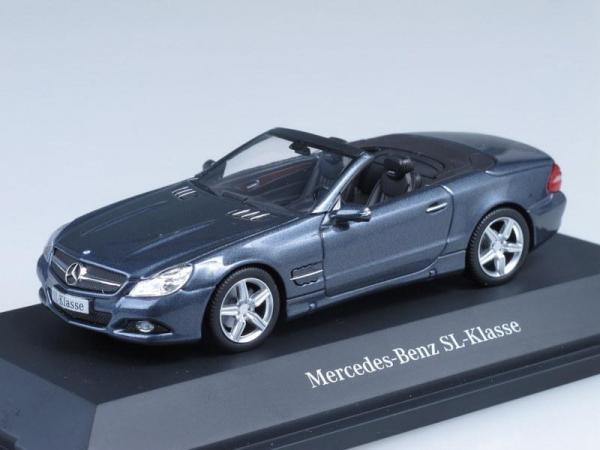 Mercedes-Benz SL-Klasse (Minichamps) [2012г., Серо-голубой металлик, 1:43]