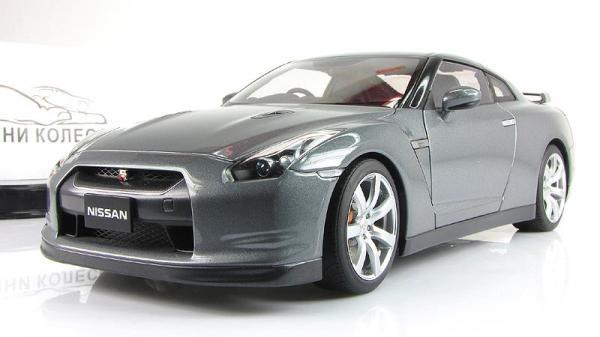 NISSAN GT-R (R35) (Autoart) [2008г., Серый, 1:18]