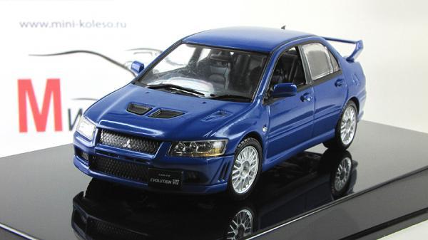 Mitsubishi Lancer Evo VII (Autoart) [2001г., Синий, 1:43]