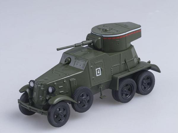 БА-6 Бронеавтомобиль (DeAgostini (Автомобиль на службе)) [1936г., Хаки, 1:43]