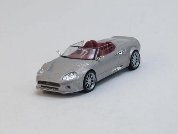 Spyker C12 Spyder (DeAgostini (Суперкары мира)) [2008г., Серебристый металлик, 1:43]