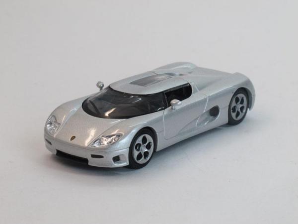 Koenigsegg CC 8S (DeAgostini (Суперкары мира)) [2002г., Серебристый металлик, 1:43]