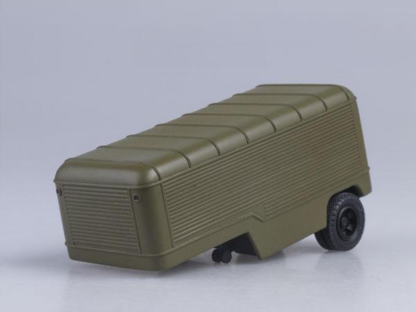 Седельный тягач ГАЗ-63П с полуприцепом ПАЗ-744 (СарЛаб) [1958г., Хаки, 1:43]