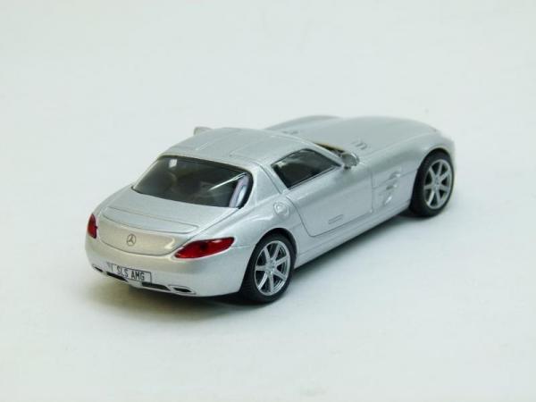 Mercedes SLS AMG 1 (DeAgostini (Суперкары мира)) [2010г., Серебристый металлик, 1:43]