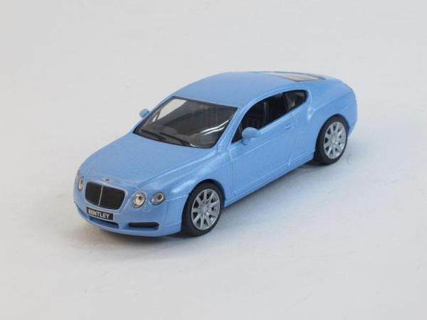 Bentley Continental GT 1 (DeAgostini (Суперкары мира)) [2003г., Голубой, 1:43]