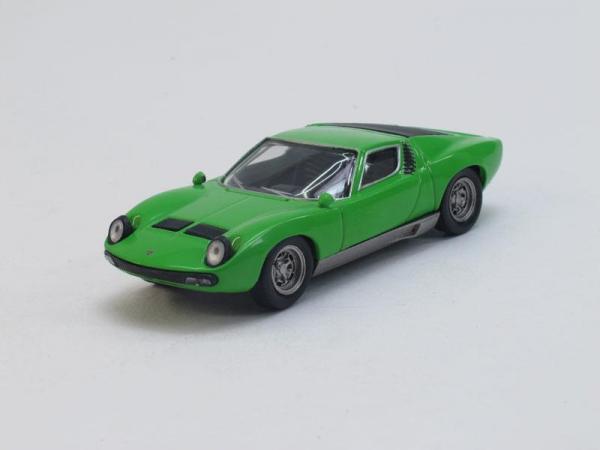 Lamborghini Miura P400SV (DeAgostini (Суперкары мира)) [1966г., Зеленый, 1:43]