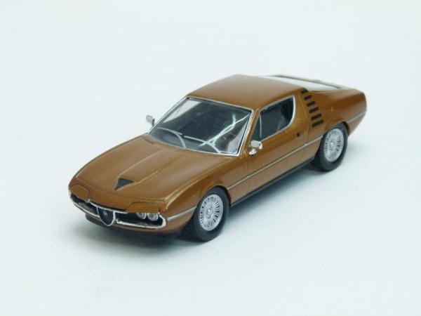 Alfa Romeo Montreal coupe (DeAgostini (Суперкары мира)) [1970г., Коричневый, 1:43]