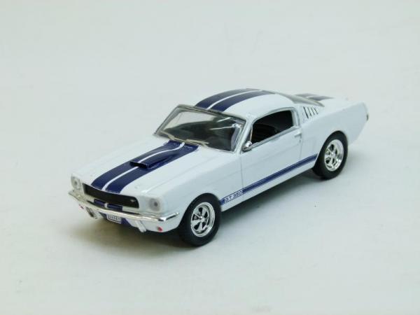 Shelby 350GT (DeAgostini (Суперкары мира)) [1965г., Белый с синими полосами, 1:43]