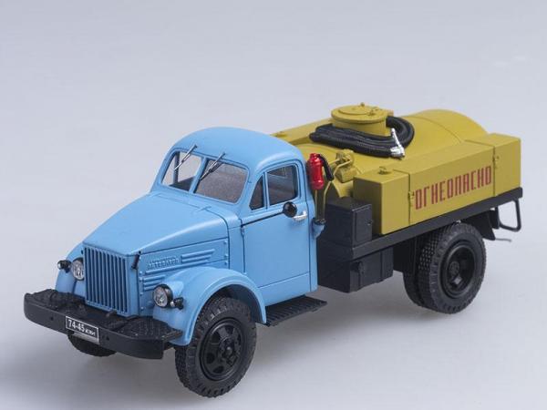 МЗ-3904 (ГАЗ-63) Маслозаправщик (СарЛаб) [1967г., Голубая кабина с желтой цистерной, 1:43]