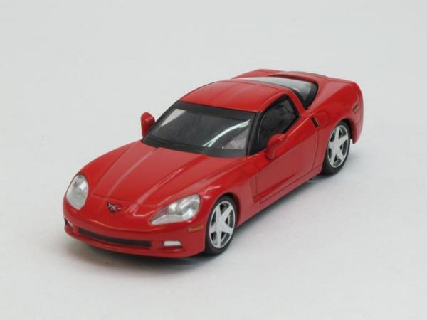 Chevrolet Corvette Z51 Coupe (DeAgostini (Суперкары мира)) [2008г., Красный, 1:43]