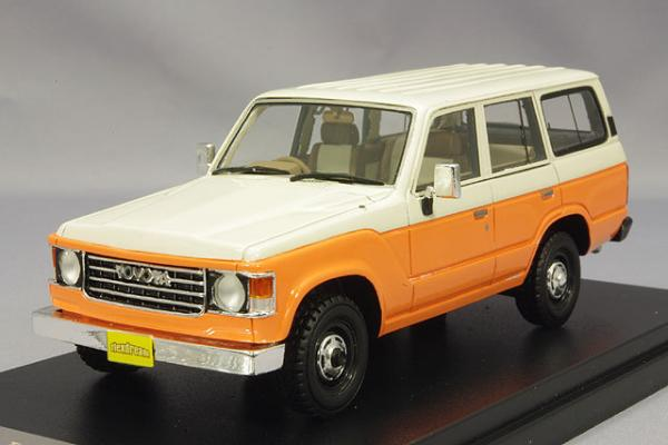 Toyota Land Cruiser 60 Flex Dream (Hi-Story) [1982г., Оранжевый, белый, 1:43]